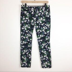 Banana Republic Work Pants Sloan Fit Floral Pants